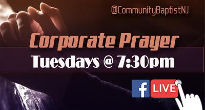 Corporate Prayer Every Tuesday