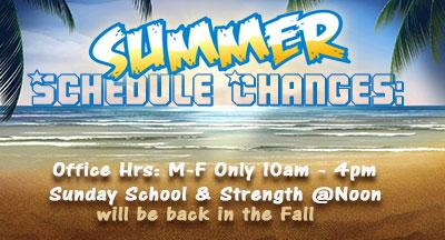 Summer Time Schedule